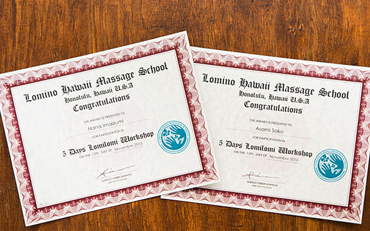 Lomino Hawaii Massage School